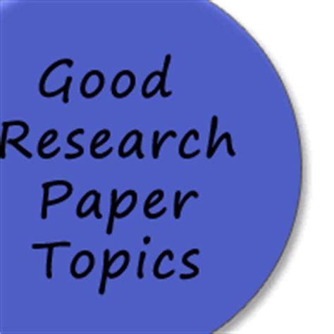 Top research paper subjects